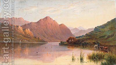 Loch Lomond by Alfred de Breanski - Reproduction Oil Painting