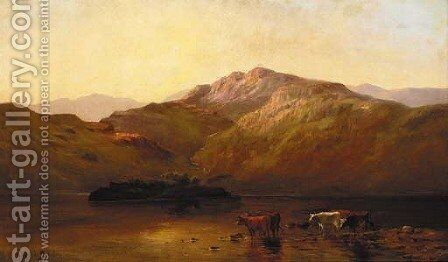 Evening at Callander by Alfred de Breanski - Reproduction Oil Painting