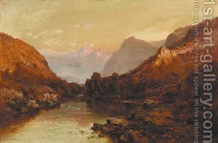 The Source of the Tummel, near Pitlochry by Alfred de Breanski - Reproduction Oil Painting