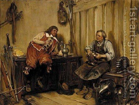 In the armoury by Alfred Dixon - Reproduction Oil Painting