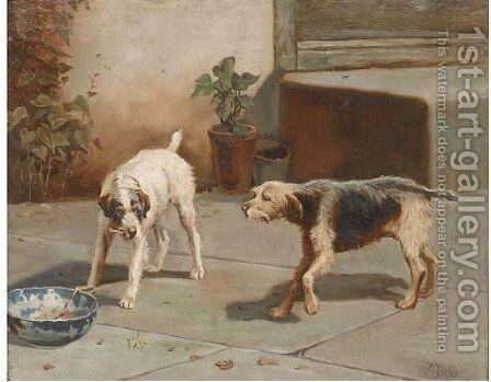 The unwelcome dinner guest by Alfred Duke - Reproduction Oil Painting