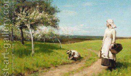 Springtime by Alfred Edward Emslie - Reproduction Oil Painting