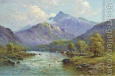 Snowdon from Portmadoc, North Wales by Alfred de Breanski - Reproduction Oil Painting