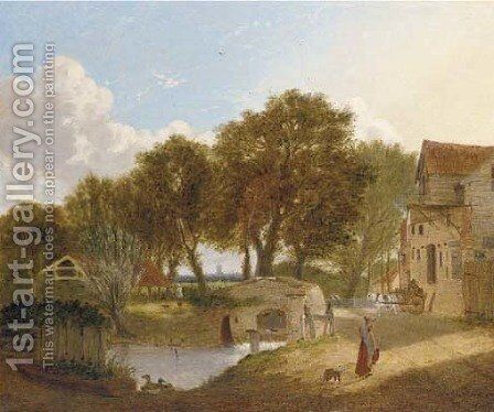The old mill by Alfred Stannard - Reproduction Oil Painting