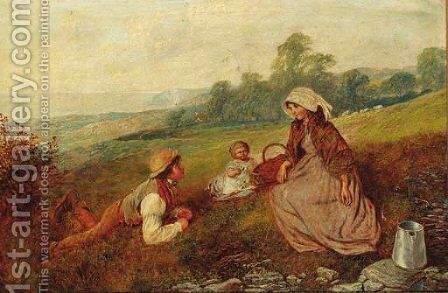 A seaside Picnic by Alfred H. Green - Reproduction Oil Painting