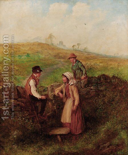 By the stile by Alfred H. Green - Reproduction Oil Painting