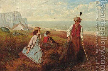 Gathering Mussels by Alfred H. Green - Reproduction Oil Painting