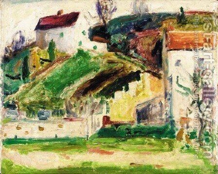 Village Scene by Alfred Henry Maurer - Reproduction Oil Painting