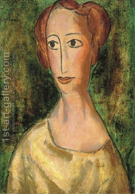 Woman with Short Hair by Alfred Henry Maurer - Reproduction Oil Painting