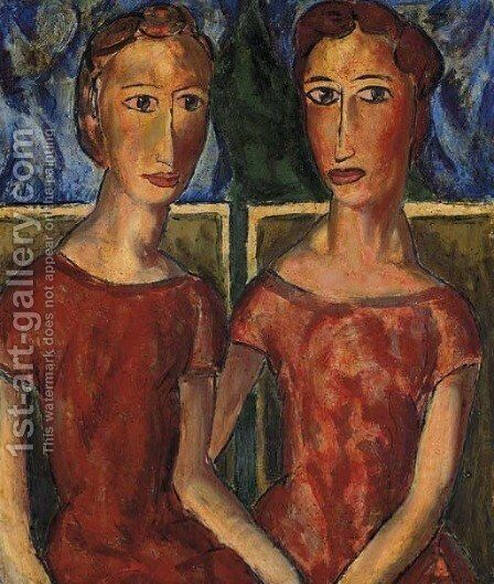 Two Women 2 by Alfred Henry Maurer - Reproduction Oil Painting