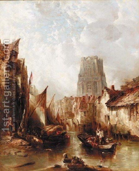 Rotterdam 3 by Alfred Montague - Reproduction Oil Painting