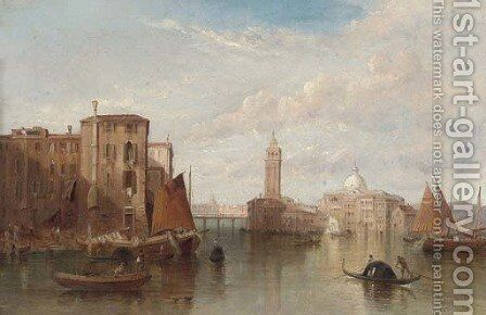 St. Pietro Cantello, Venice by Alfred Pollentine - Reproduction Oil Painting