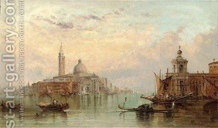 The Dogana, Venice, looking towards Santa Maria Maggiore by Alfred Pollentine - Reproduction Oil Painting