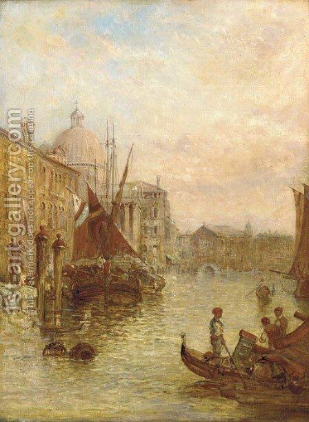 The Grand Canal, Venice by Alfred Pollentine - Reproduction Oil Painting