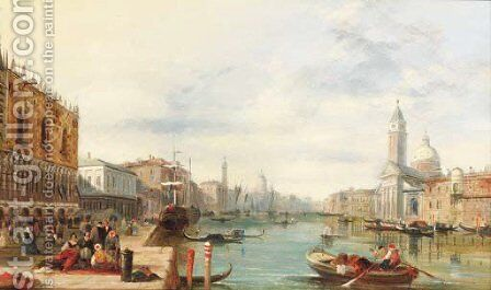 The Grand Canal, Venice 3 by Alfred Pollentine - Reproduction Oil Painting