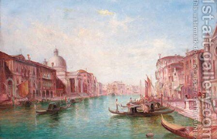 The Grand Canal, Venice 4 by Alfred Pollentine - Reproduction Oil Painting