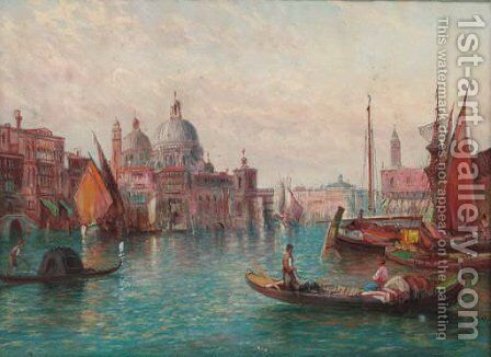 The Grand Canal, Venice 5 by Alfred Pollentine - Reproduction Oil Painting