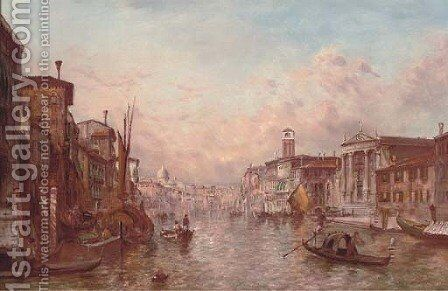 The Grand Canal, Venice 6 by Alfred Pollentine - Reproduction Oil Painting