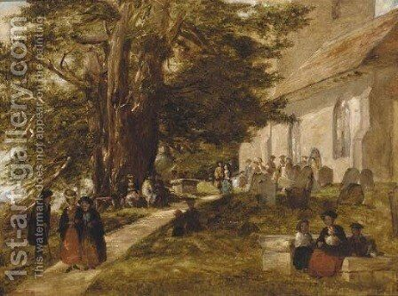 Returning from church by Alfred Rankley - Reproduction Oil Painting