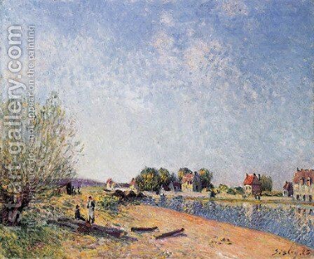 Le canal du Loing a Saint-Mammes by Alfred Sisley - Reproduction Oil Painting