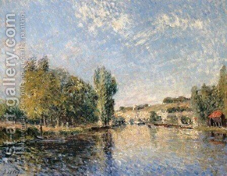 Le Loing a Moret by Alfred Sisley - Reproduction Oil Painting