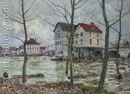 Les moulins de Moret--hiver by Alfred Sisley - Reproduction Oil Painting