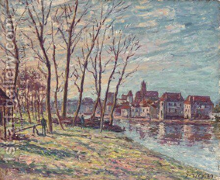 Vue de Moret by Alfred Sisley - Reproduction Oil Painting