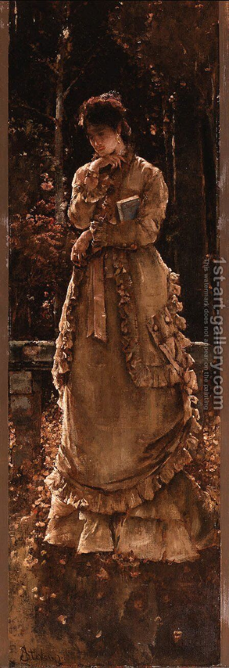 Autumn by Alfred Stevens - Reproduction Oil Painting