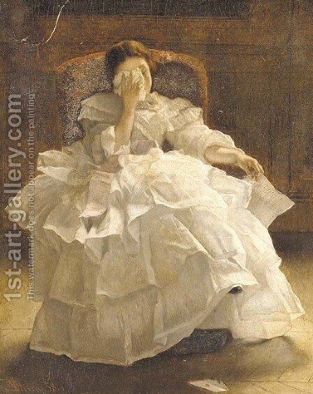 Regret by Alfred Stevens - Reproduction Oil Painting