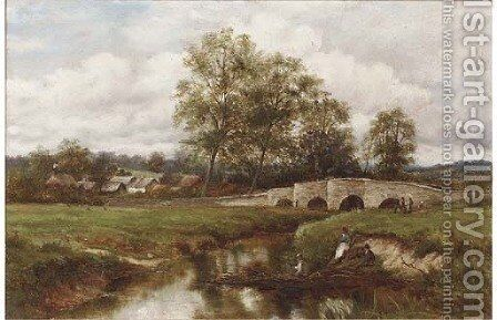The Thames at Clifton Hampden by Alfred Taylor - Reproduction Oil Painting