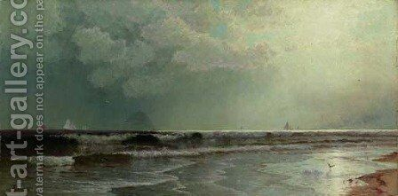 Seascape at Dusk by Alfred Thompson Bricher - Reproduction Oil Painting