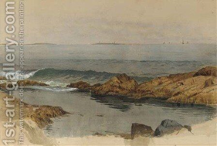 Small Cove at Sea by Alfred Thompson Bricher - Reproduction Oil Painting