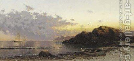 Sunset 2 by Alfred Thompson Bricher - Reproduction Oil Painting