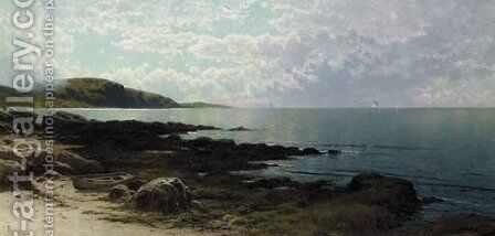 Seascape with Boat by Alfred Thompson Bricher - Reproduction Oil Painting