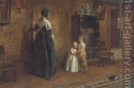 The secret passage by Alfred W. Cooper - Reproduction Oil Painting