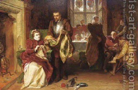 Mary Queen of Scots and Christopher Norton at Bolton Castle by Alfred Elmore - Reproduction Oil Painting
