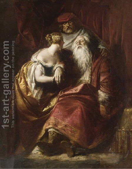 The death of King Lear by Alfred Elmore - Reproduction Oil Painting