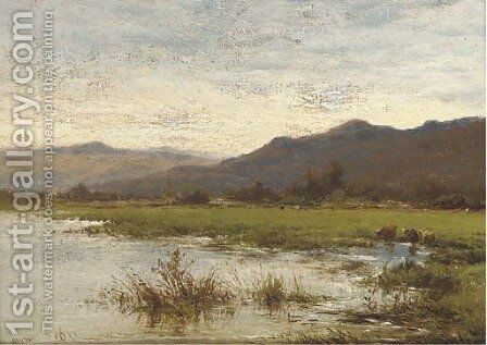 Near Renfrew, North Wales by Alfred Walter Williams - Reproduction Oil Painting