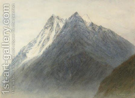 The Dents de Veisivi and the Dent Perroc by Alfred Walter Williams - Reproduction Oil Painting