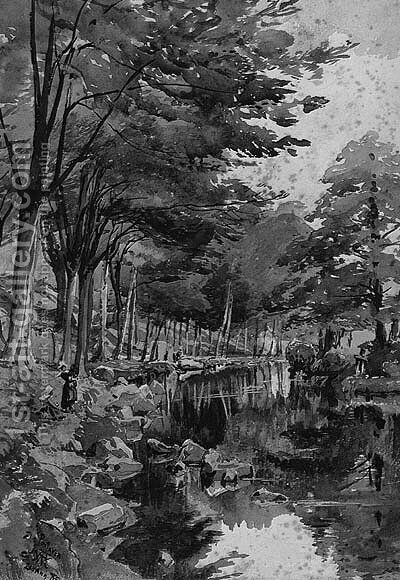 Pontaven by Alfred Waterhouse - Reproduction Oil Painting