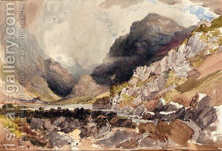 Gap of Dunlo', Purple Mount, Reeks by Alfred William Hunt - Reproduction Oil Painting