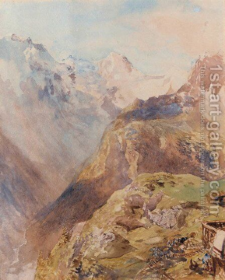 Lauterbrunnen valley from Marren by (after) Le Moyne, Jacques (de Morgues) - Reproduction Oil Painting