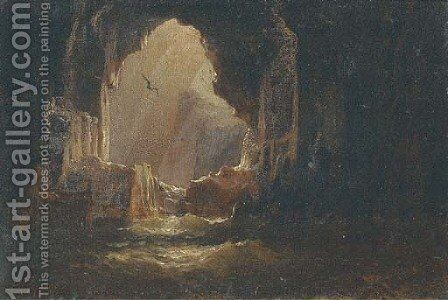 At the mouth of the cave by Alfred Parsons - Reproduction Oil Painting