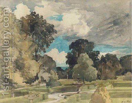 A garden near Hazelhurst by Alfred William Rich - Reproduction Oil Painting