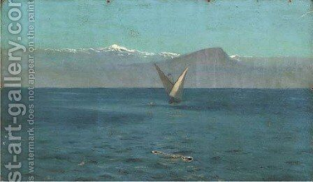 Sailing off the coast, thought to be Chile by Algernon Talmage - Reproduction Oil Painting