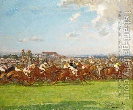 The Derby, 1931 by Algernon Talmage - Reproduction Oil Painting