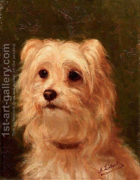 Cairn terrier by Alice Leotard - Reproduction Oil Painting