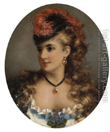 A young beauty by Alice Renshaw - Reproduction Oil Painting