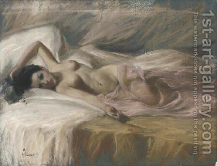 In the boudoir by Alico Giovanni - Reproduction Oil Painting