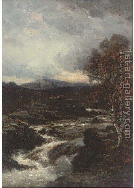 After the rain, evening on the Usk by Allan Ramsay - Reproduction Oil Painting